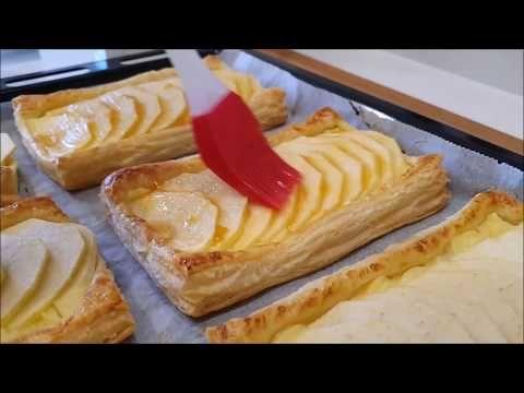 Tartaletas De Hojaldre Con Manzana Y Crema Pastelera Así De Fácil Y Así De Ricas Youtube Hojaldre Con Manzana Hojaldres Tartaletas