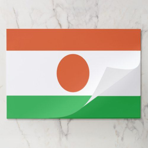 Niger Flag Placemat Tearaway 25 Sheets Placemats Niger Flag Custom Party