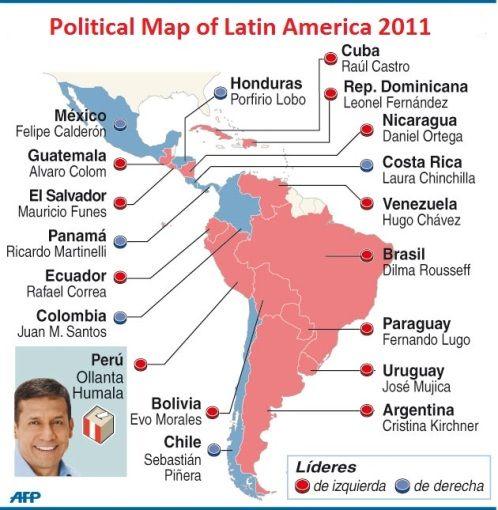 Political Map of Latin America in 2011 Maps Latin America Pinterest