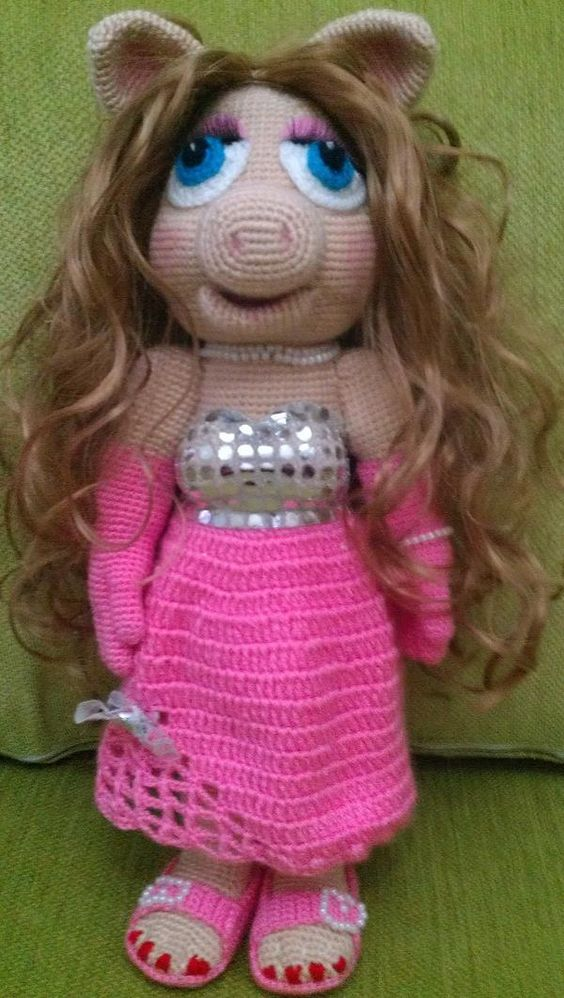 Miss piggy, Amigurumi and Crochet