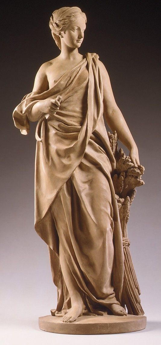 Ceres, Augustin Pajou 1768-70 ; goddess of agriculture, grain crops, fertility and motherly relationships