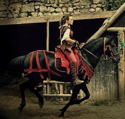 Rosalina on her new horse Sadore