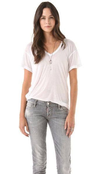 I am now and will always be on a quest to find the perfect white tee. Maybe a little silk will help!