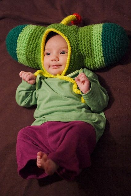 Here's a fun and cushy baby bonnet for fans of Katamari Damacy. It's quick to…