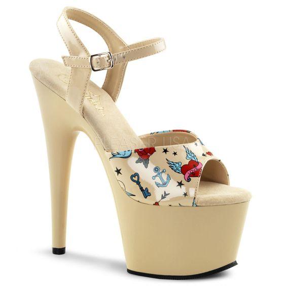 PLEASER | PLEASER | 7 Inch Heel - 2 3/4 Inch Platform Ankle Strap ...