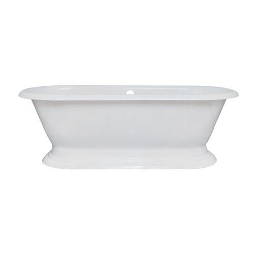 Elements Of Design 72 X 31 White Cast Iron Center Drain Freestanding Bathtub No Faucet Hole At Menards Pedestal Tub Kingston Brass Free Standing Bath Tub