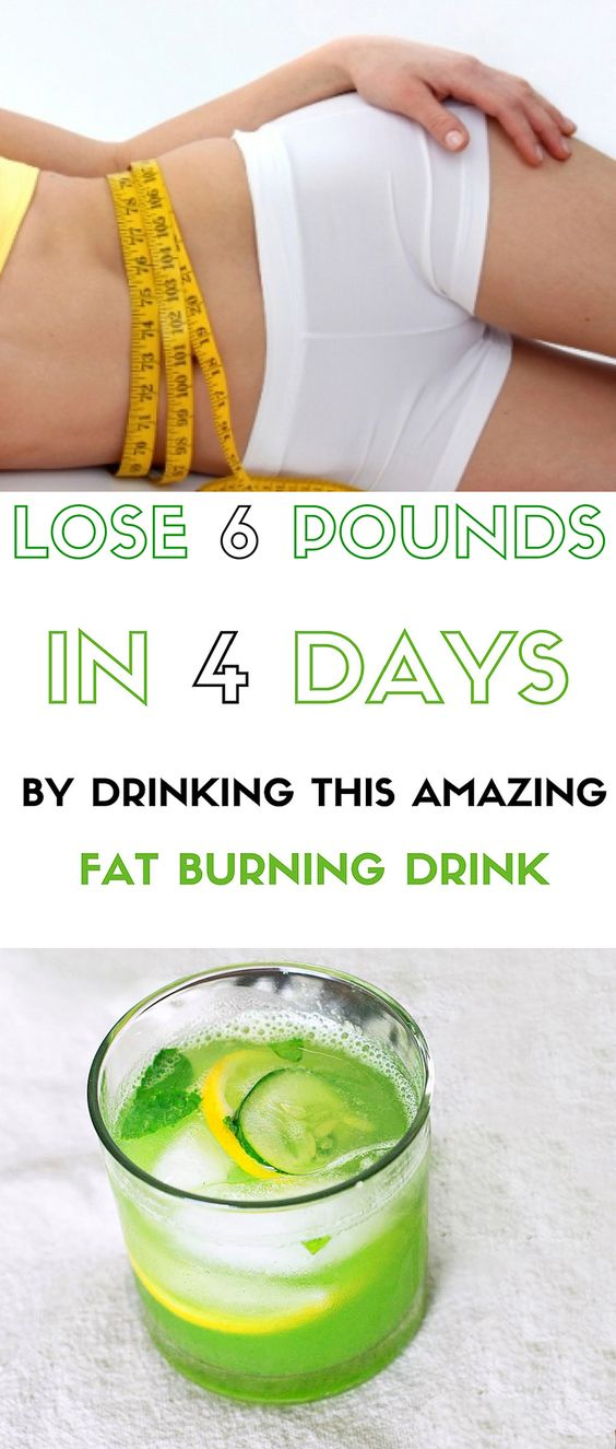 Lose 6 Pounds In 4 Days With This Fat Burning Drink