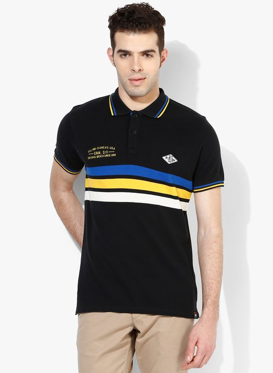 Buy lee black polo t shirt for men online india best for Best polo t shirts for men
