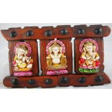 Instrument Ganesha Set of 3 Door / Wall Hanging