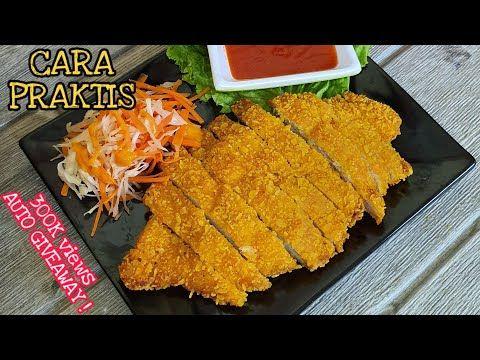 Resep Chicken Katsu Paling Praktis Ala Asahid Tehyung Tanpa Tepung Roti Youtube Makanan Makanan Dan Minuman Resep Ayam