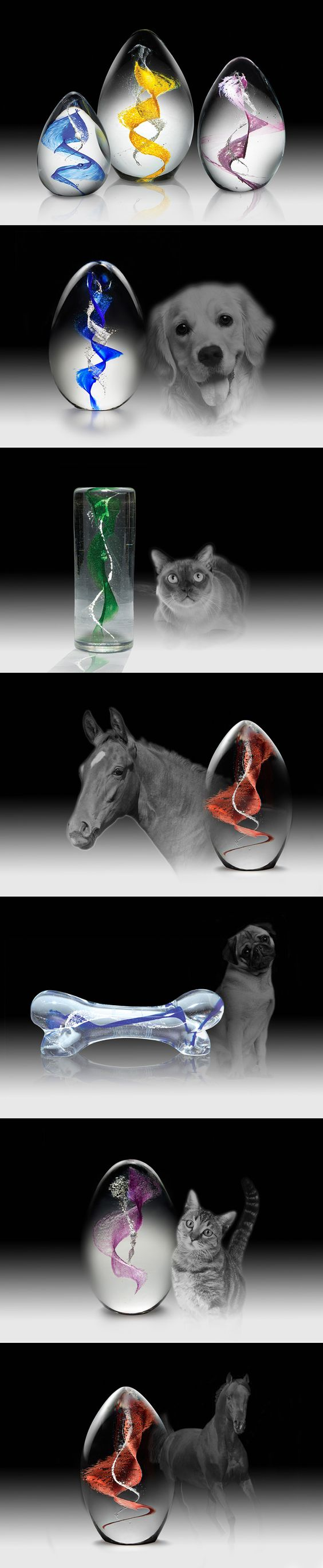 Crystal Remembrance™ For Pets offers Pet Parents dealing with the loss of a beloved pet the unique opportunity to preserve a portion of their pets' cremated remains in a solid work of glass art.