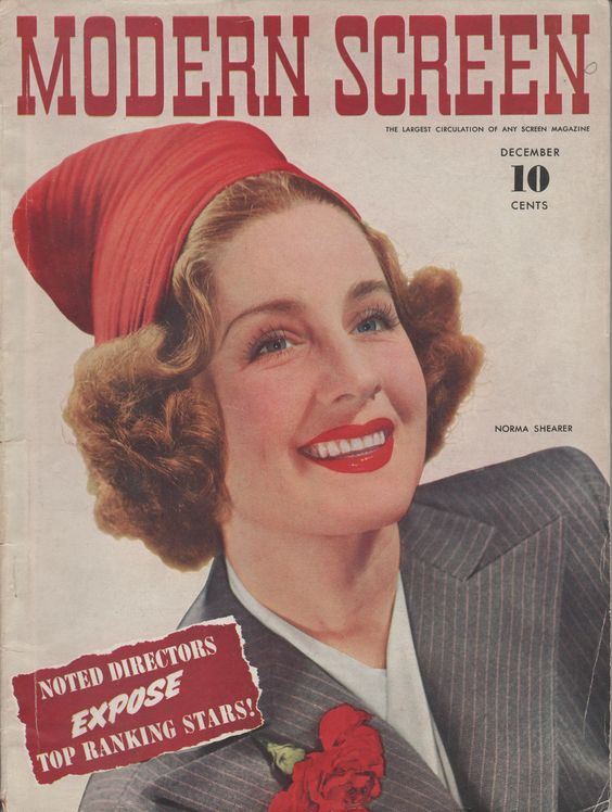 Norma Shearer on the December 1940 Modern Screen