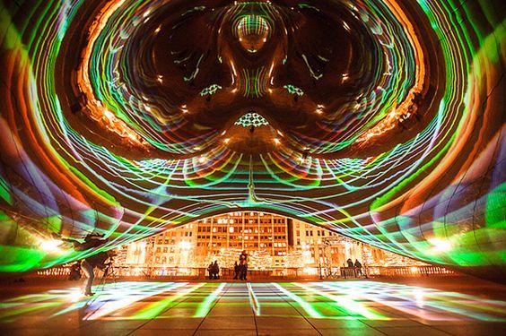Luminous Field by LuftWerk Installed at Chicago's Cloud Gate - (Anish Kapoor's)