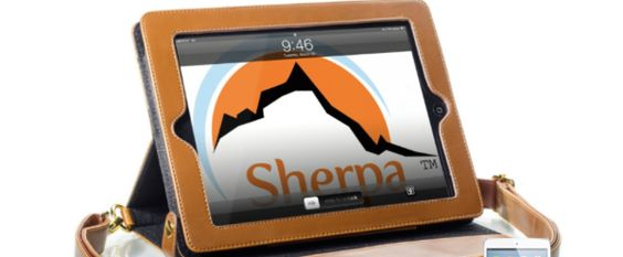 Review and Giveaway of The Sherpa Mini for iPad Mini – Camel from Sherpa Carry LLC ‹ AppAbled.com