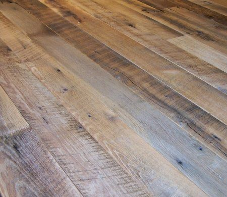 Reclaimed Wood Flooring Wire Brushed Tobacco Barn Oak