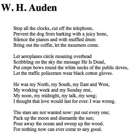 Lullaby wh auden analysis essay