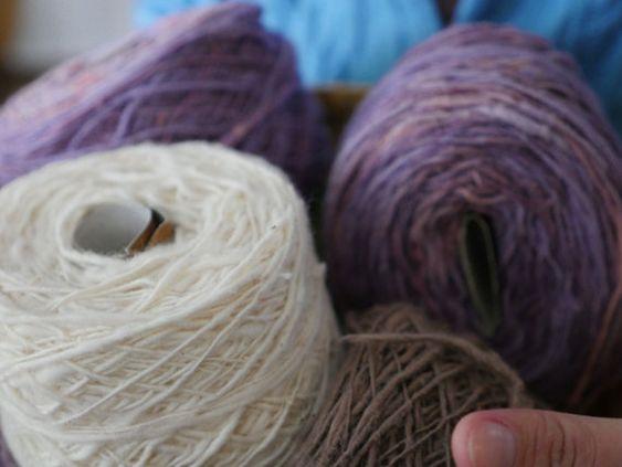 Organic hand-spun 100% cotton yarn: Cotton White by ikatandme