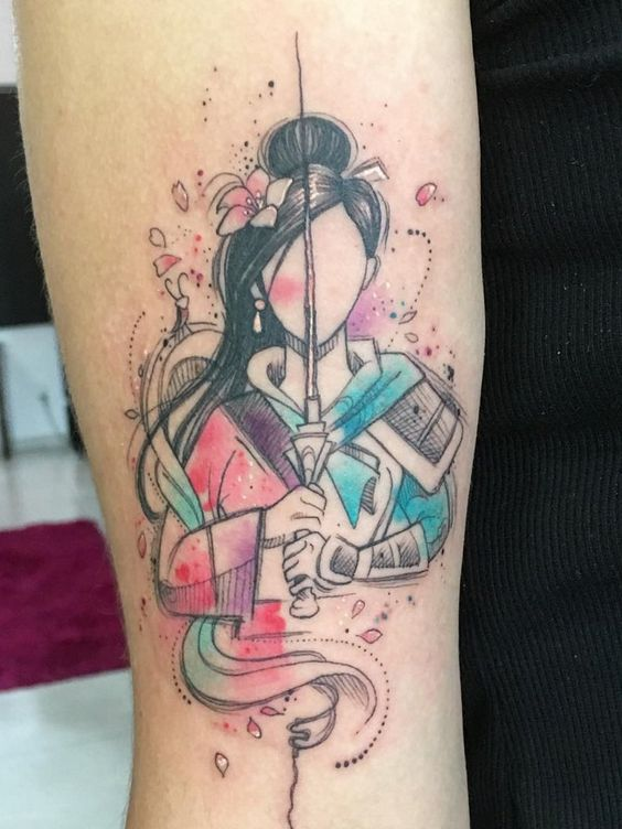 Deborah Deh Soares > Mulan (Disney) #tattoo #ink #art #watercolor