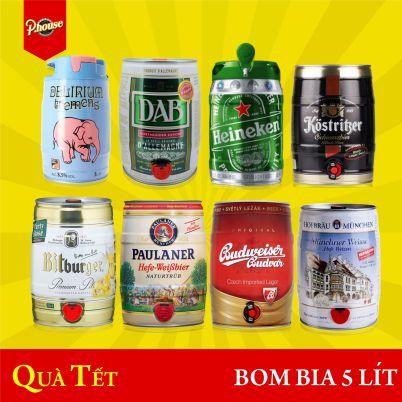 bom bia 5 lít nhập khẩu quà tặng