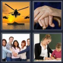 4 fotos 1 palabra helicopteros - Pulsa sobre la foto para ver la respuesta