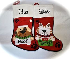 Personalized Pet Stocking Dog Christmas Stocking Cat Christmas Stocking | eBay
