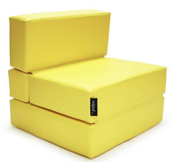 Puf cama convertible   #yellow #puf #cama #bed