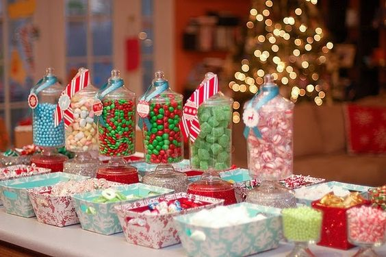 Gingerbread/cookie bar... Great idea for the kids to decorate