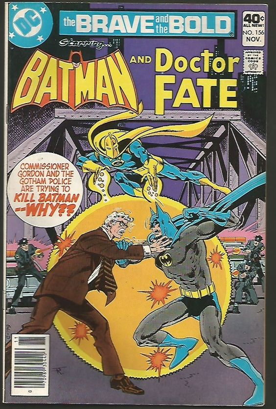 BRAVE & BOLD #156 Batman & Dr. Fate  DC Comics 1979 Sold as VF/+range
