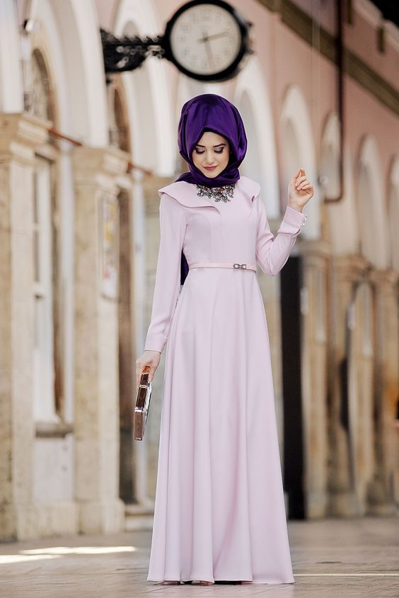 Purple Turkish Hijab