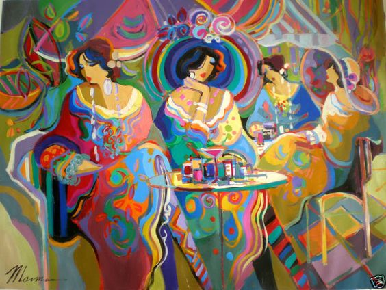 Cafe La Parisienne The Parisiennes are the inhabitants of the canvases by Isaac Maimon. Their subtle curves, their mysterious smiles and the...: