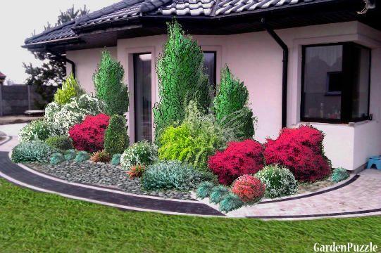 Przed Domem Gardenpuzzle Projektowanie Ogrodow W Przegladarce Garden Decor Plants Garden
