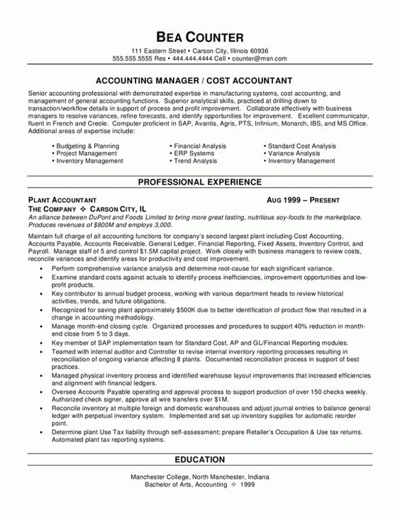 Summary Of Qualifications Resume Example | Resume Samples
