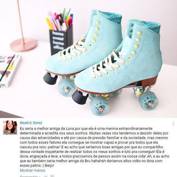 A leitora sortuda que ganhou o patins do vídeo #SouLuna foi a Bia. Parabéns!!  by depoisdosquinze