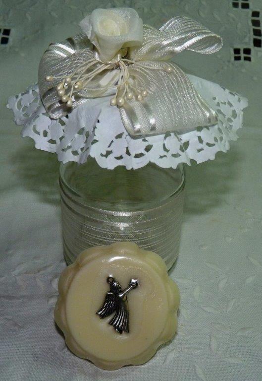 Un frasco decorado especialmente para regalar o guardar - Que regalar en un bautizo ...