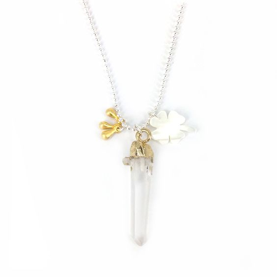 Hello dai quartz pegel met klaver ketting #applepiepieces