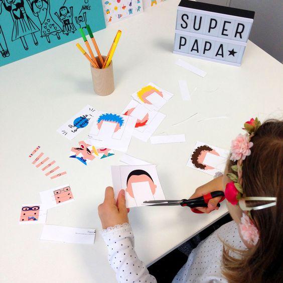 Free print DIY assemble ton papa à télécharger sur le blog !! happybulle.com