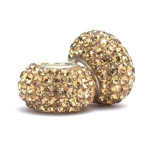 Set of 2 - Bella Fascini Champagne Bubbles Crystal Pave Sparkle Bling - Solid .925 Sterling Silver Core European Charm Bead Made with Authentic Swarovski Crystals - Compatible Brand Bracelets : Authentic Pandora, Chamilia, Moress, Troll, Ohm, Zable, Biagi, Kay's Charmed Memories, Kohl's, Persona & more! Bella Fascini Beads,http://www.amazon.com/dp/B00H7IE9ZU/ref=cm_sw_r_pi_dp_bhIPsb1TJSVKTA0M