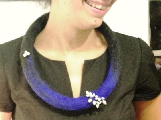 Marion Lebouteiller - oct 2016 - · Wearing my new Sepiola neckpiece at madelondon: