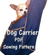 Free Crochet Pattern Dog Carrier : Dog Carrier PDF Sewing Pattern, Small Do Sewing patterns ...
