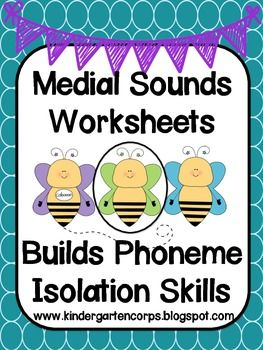 Vowel Worksheets for Middle Sound Practice. Using CVC pictures ...