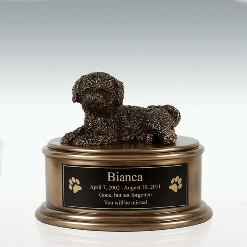 Bichon Frise Figurine Cremation Urn Engravable Pm18869 Bichon Frise Dog Urns Cremation Urns