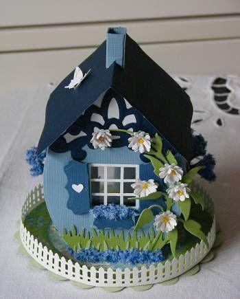 Artesanias magic cards: Blue Easter Bunny Home