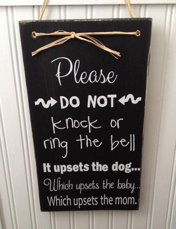 Please do no knock or ring the bell it by ModernMommyAllThings, $14.00