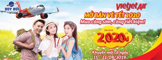 Vé máy bay tết 2020 Vietjet chỉ từ 2,020 đồng