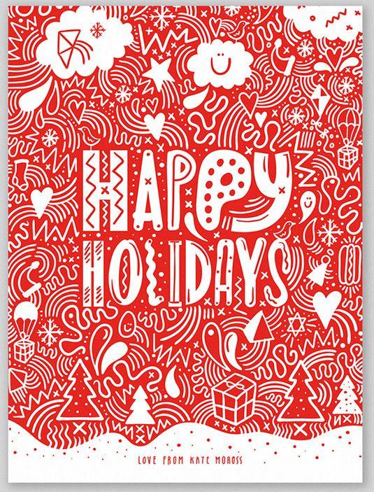 Christmas, Happy Holidays, Greeting Card, Design, Illustration