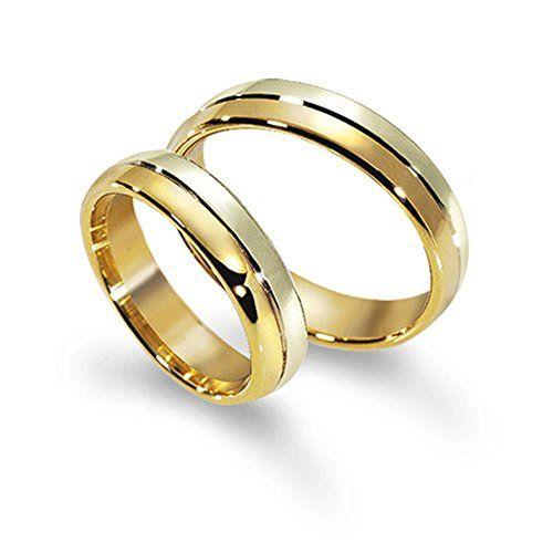Appealing Wedding Bands Stylish 14k White And Yellow Gold Matching Rings 5 Mm Matching Wedding Rings Wedding Ring Designs Wedding Ring Pictures