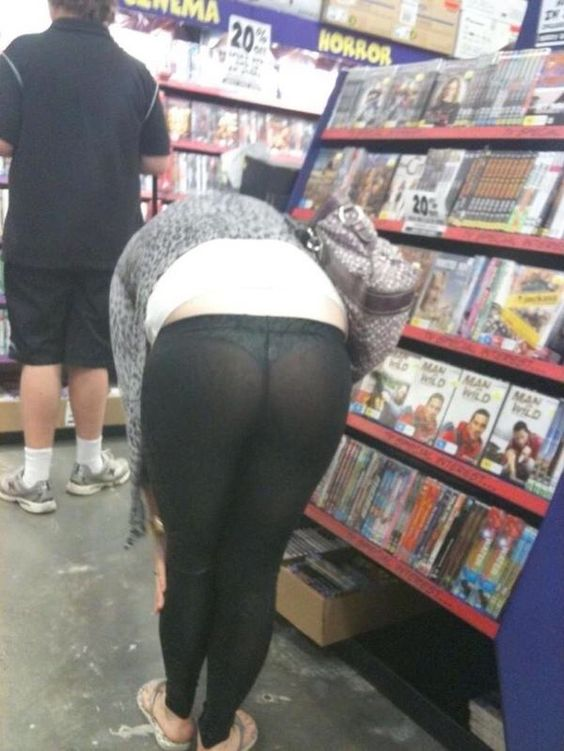 Leggings so tight they are see-through- I DO NOT NEED TO ...