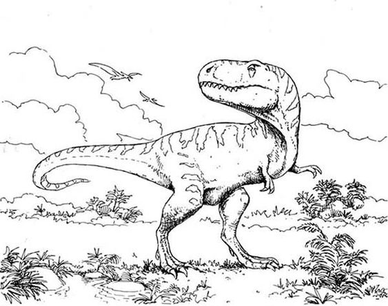 T Rex Intimidating Her Enemy Coloring Page Color Luna Dinosaur Coloring Pages Dinosaur Coloring Sheets Animal Coloring Pages