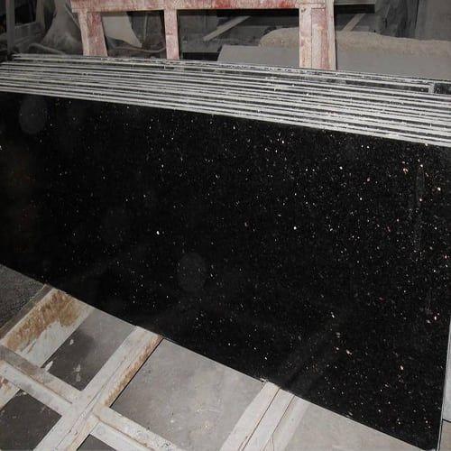 Granite Spotlight Black Galaxy Granite Denver Shower Doors