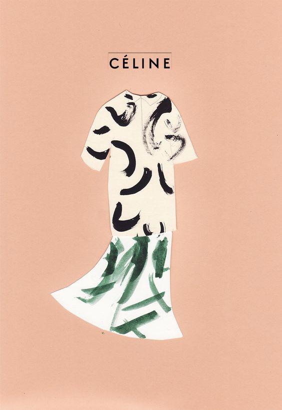 Céline SS/14, Illustration by Saintemaria, 2014.